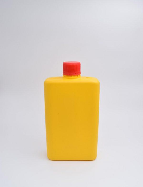 Φιάλη 500 γρ. Βιδωτό Πλακέ Κίτρινο