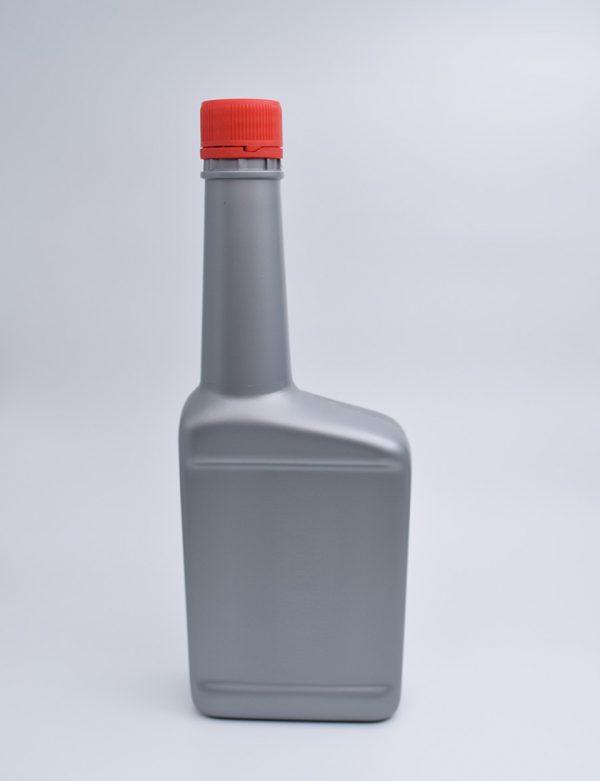 Φιάλη 500 γρ. Βιδωτό Πλακέ Μακρύ Λαιμός Ασημί