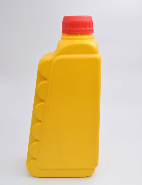 Φιάλη 1L Βιδωτό Πλακέ Με Σχέδιο Κίτρινο