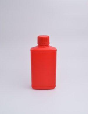 Φιάλη 250 γρ. Βιδωτό Πλακέ Mobil Κόκκινο