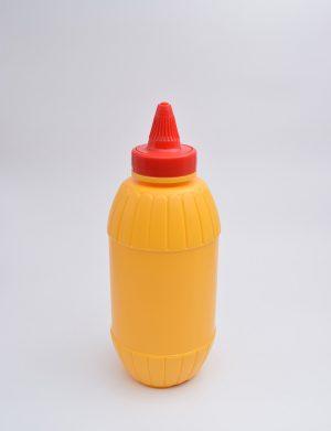 Φιάλη 500 γρ. Βιδωτό Βαρελάκι Μουστάρδα Κίτρινο